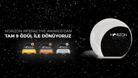 Horizon Interactive Awards'dan 9 Ödülle Döndük