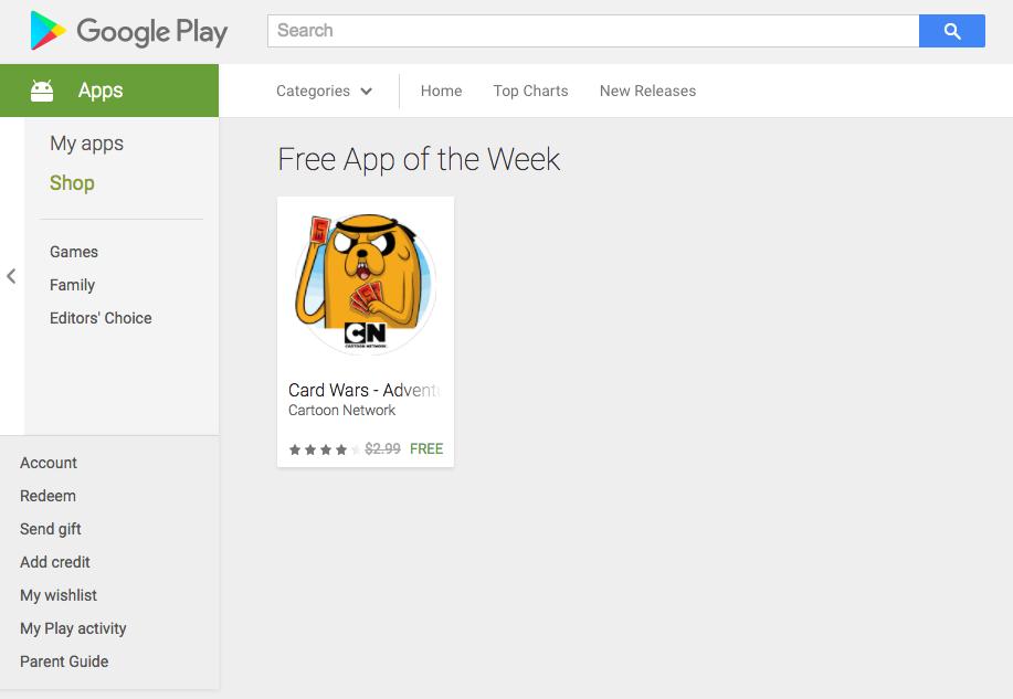 haftanın ücretsiz uygulaması play store