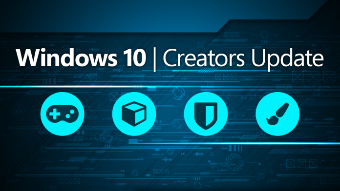 windows 10 creators güncellemesi
