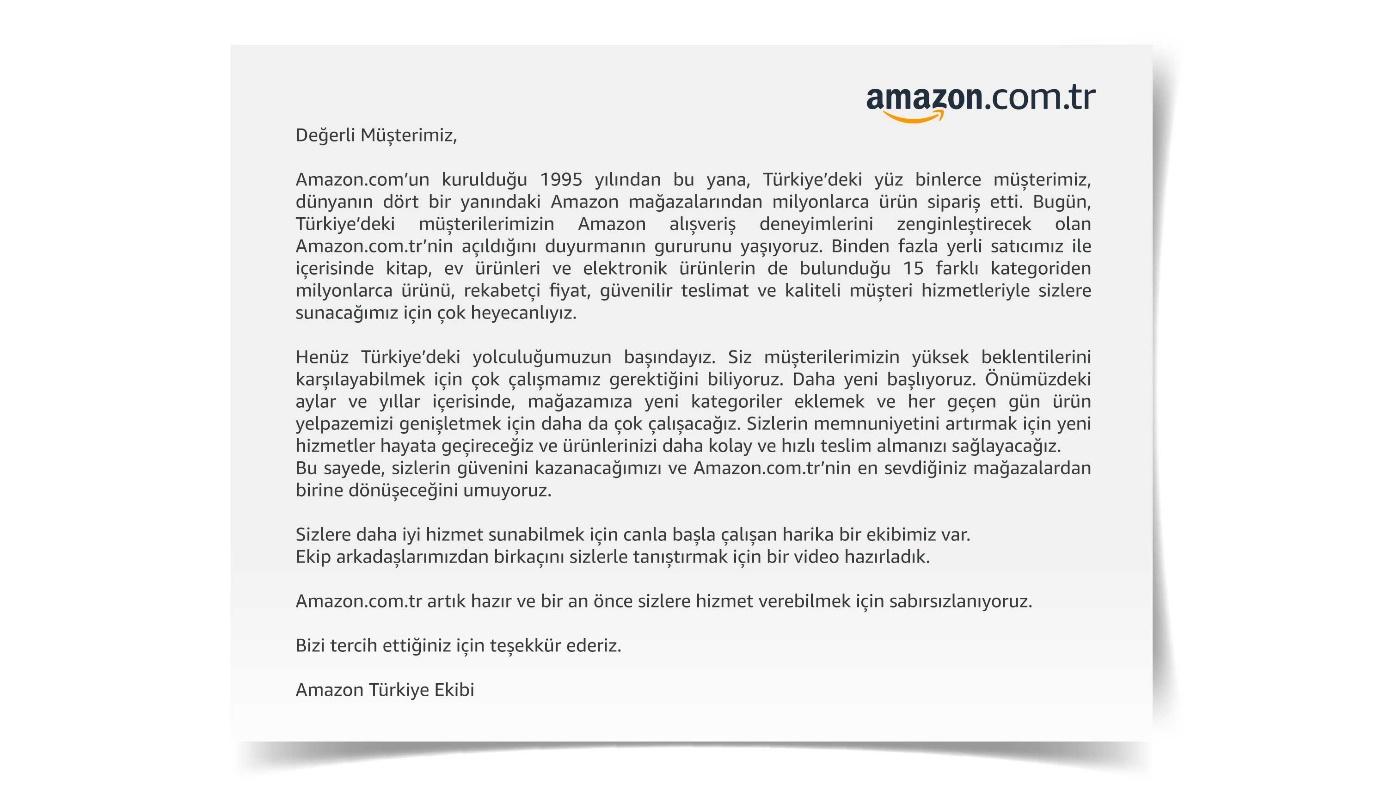 Amazon Türkiye bugün resmen açıldı