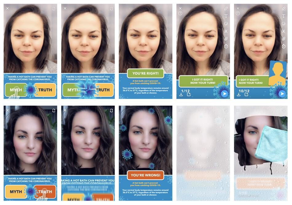 Snapchat Korona Virüs AR